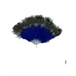 Abanico de plumas de pavo...