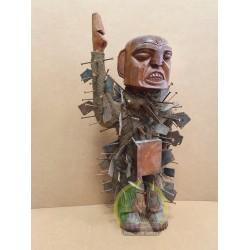 Inkisi Malongo de madera