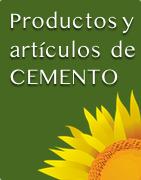 Productos y artículos de cemento
